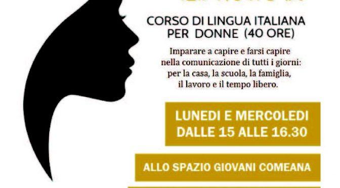 Al via il corso gratuito di italiano al femminile