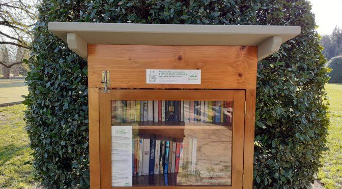 """Restaurata la """"Little Free Library"""" posta all'interno del Parco Museo Quinto Martini di Seano"""