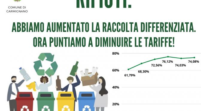 Cresce la raccolta differenziata e si lavora per la ridurre la tariffa della tassa rifiuti