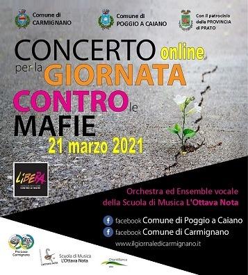Locandina concerto contro le mafie